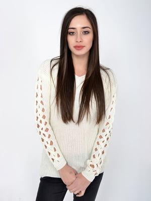 Пуловер молочного кольору | 5287909