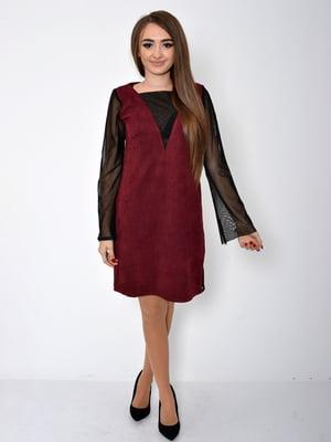 Платье бордовое | 5296011