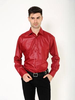 Рубашка бордовая | 5323075