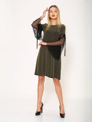 Платье золотисто-черное | 5337774