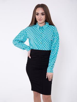 Блуза ментолового цвета   5349015