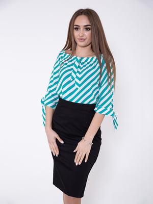 Блуза бело-зеленая | 5349022