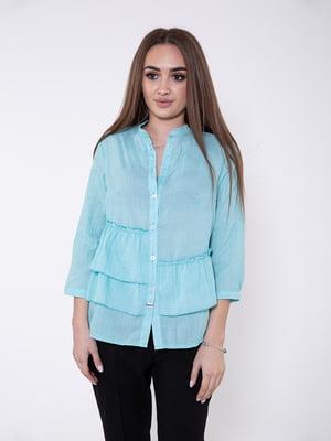 Блуза ментолового цвета | 5349043