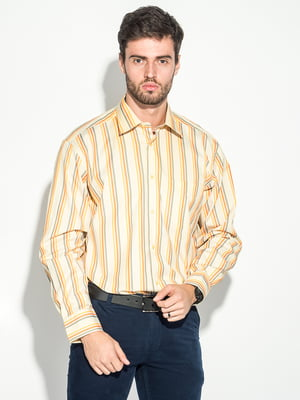 Рубашка салатово-коралловая | 5349163