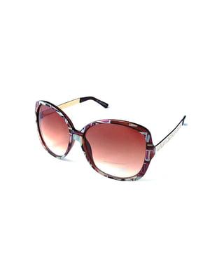 Окуляри сонцезахисні коричневі | 5349571