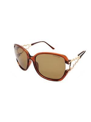 Окуляри сонцезахисні коричневі | 5349588