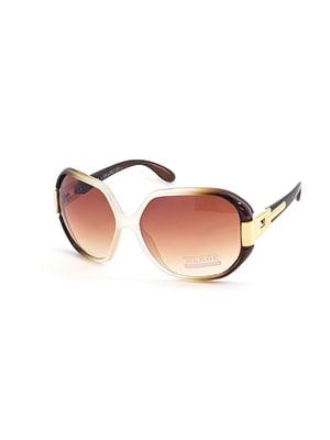 Окуляри сонцезахисні коричневі | 5349594