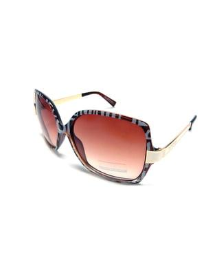 Окуляри сонцезахисні коричневі | 5349598