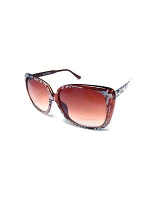 Окуляри сонцезахисні коричневі | 5349599