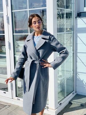 Пальто серо-голубого цвета | 5349746