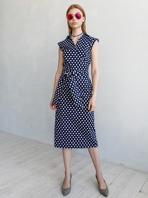 Платье синего цвета в горох | 5349754