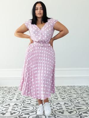 Платье светло-розового цвета в горох | 5349792