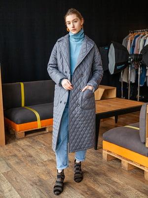 Пальто сіро-сріблястого кольору   5349828
