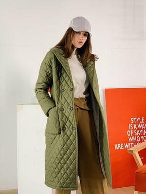 Пальто кольору хакі   5349829
