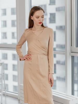 Сукня бежево-золотистого кольору   5349852