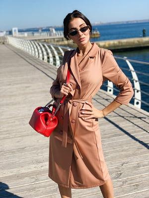 Сукня бежево-коричневого кольору   5349882