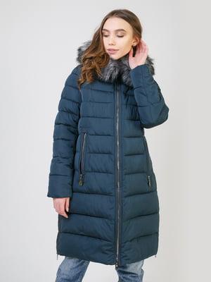 Пальто темно-бірюзове | 5327037