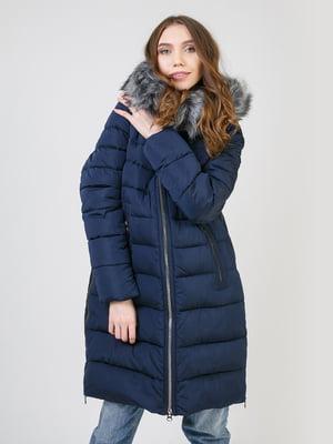 Пальто темно-синє | 5327036