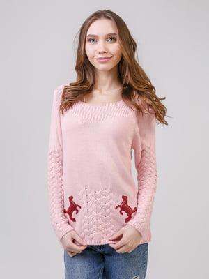 Джемпер светло-розового цвета | 5346482