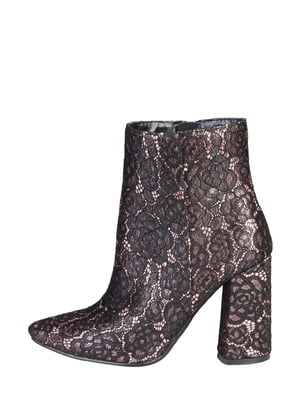 Ботинки черно-персикового цвета | 5347392