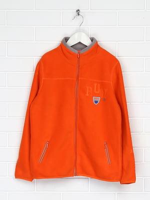 Куртка оранжевая флисовая | 5202838