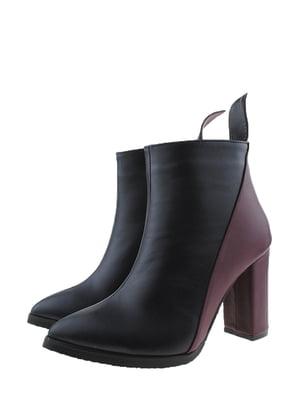 Ботинки черно-бордовые | 5348185