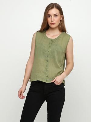 Блуза оливкового кольору | 5350458