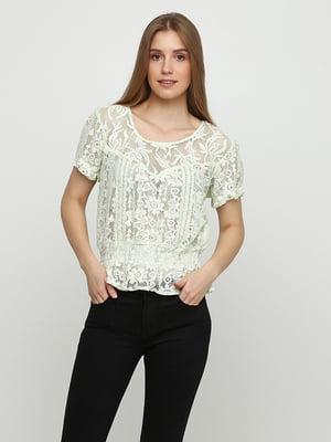Блуза м'ятного кольору | 5350459