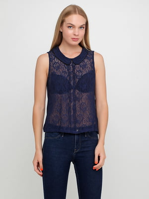 Блуза синяя | 5350497
