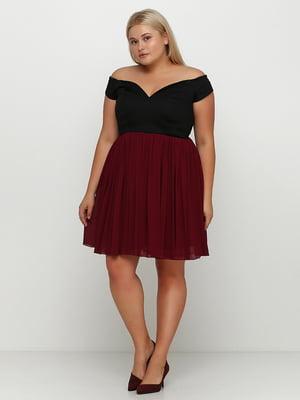 Платье бордовое | 5350528