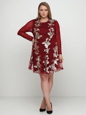 Сукня бордова | 5350534