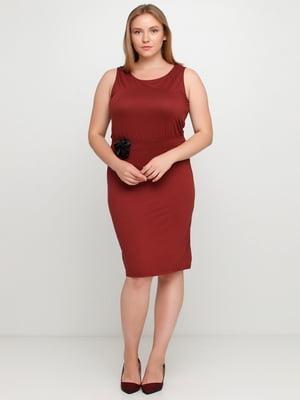 Платье бордовое | 5350607