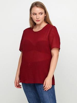 Блуза бордова | 5350704
