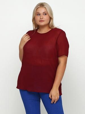 Блуза бордова | 5350720