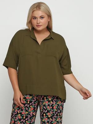 Блуза оливкового кольору | 5350742