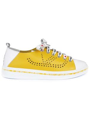 Кеды желто-белые | 5350895
