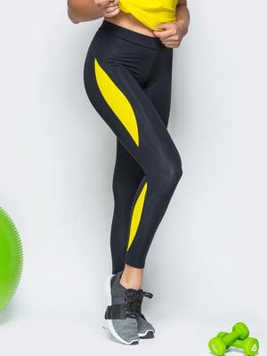 Леггинсы черно-желтые | 5350939