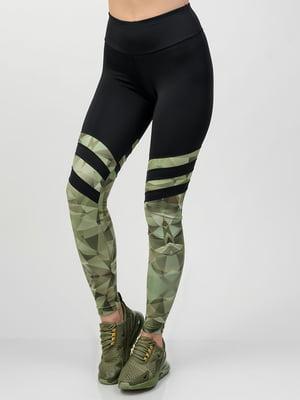 Легінси чорно-зелені | 5350947