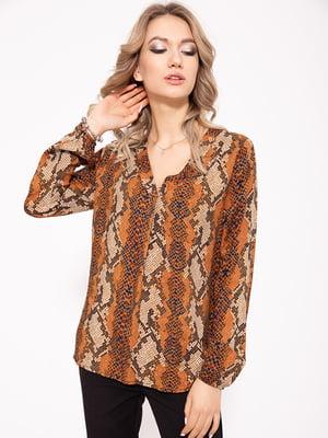 Блуза коричнево-черная   5350969