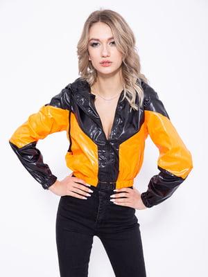 Ветровка черно-оранжевая | 5350994