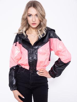 Ветровка черно-розовая | 5350995