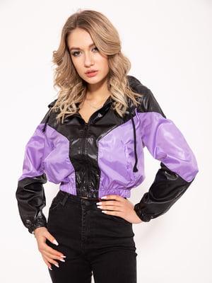 Ветровка черно-фиолетовая | 5350996