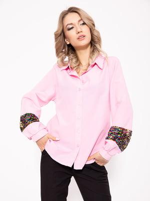 Рубашка розовая | 5351051