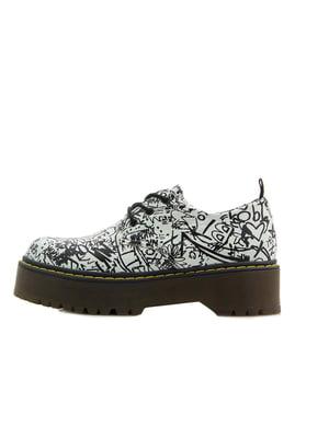 Туфли белые с принтом | 5351179