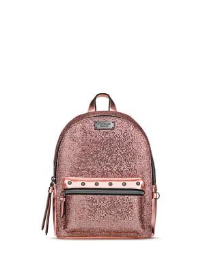 Рюкзак рожево-золотистого кольору | 5350813