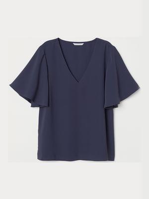 Блуза темно-синего цвета   5351453