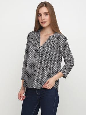 Блуза серо-черная в узор   5351920