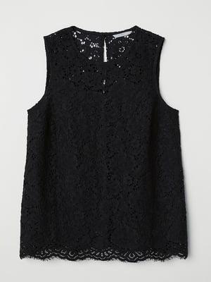 Блуза черная кружевная   5352000