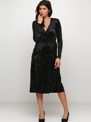Сукня чорна велюрова | 5352008