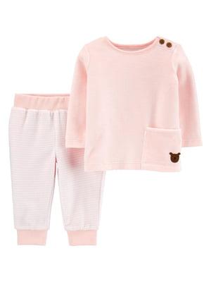 Комплект велюровый: джемпер и брюки   5352093